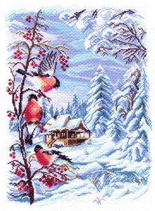 Вышивка матренин посад снегири88